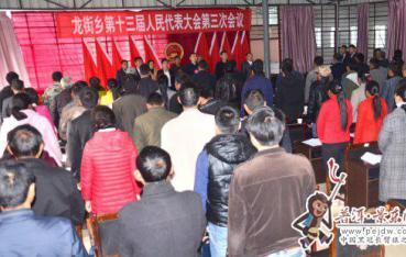 龙街乡第十三届人民代表大会第三次会议开幕
