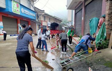 开展爱国卫生专项行动,林街乡在行动